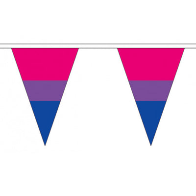 Bisexual Pride Flag Cloth Bunting Small (5m x 12 flags)