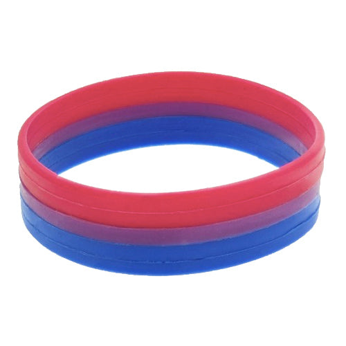 Bisexual Flag Colours Silicone Wristband Large