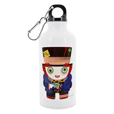 Aluminium Water Flask - Mad Hatter