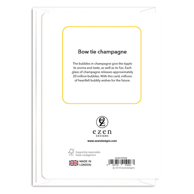 Bow Tie Champagne - Gay Wedding Card