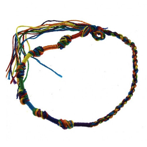 Gay Pride Rainbow Braided Bracelet
