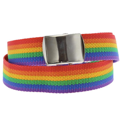 Gay Pride Rainbow Canvas Belt