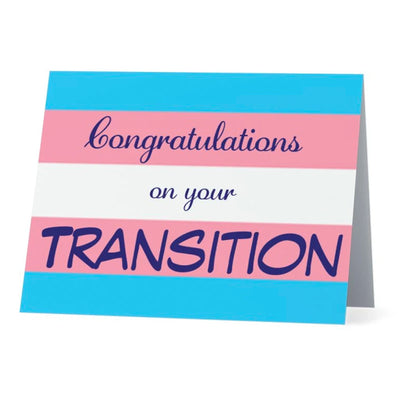 Flag Card Transgender Congratulations On Your Transition Pride Flag - Greetings Card
