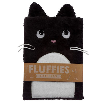 Fluffies Plush Animal A5 Notepad - Cat