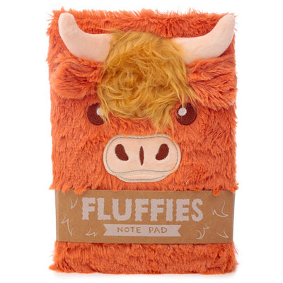 Fluffies Plush Animal A5 Notepad - Highland Cow