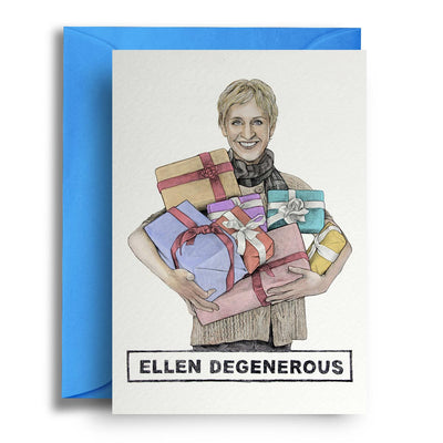 Ellen Degenerous - Greetings Card