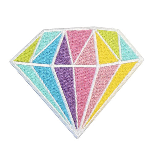 Diamond Embroidered Iron-On Patch