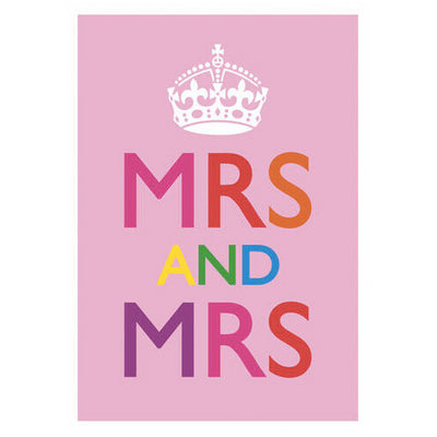 Mrs And Mrs Gay Wedding Card