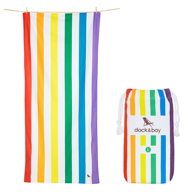 Gay Pride Rainbow Beach Towel Large