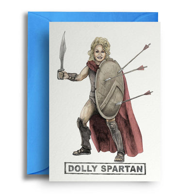 Dolly Spartan - Greetings Card