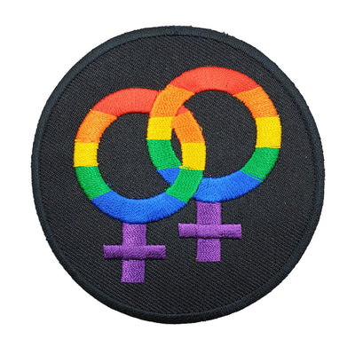 Gay Pride Rainbow Double Mars Iron-On Patch
