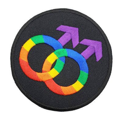 Gay Pride Rainbow Double Venus Iron-On Patch