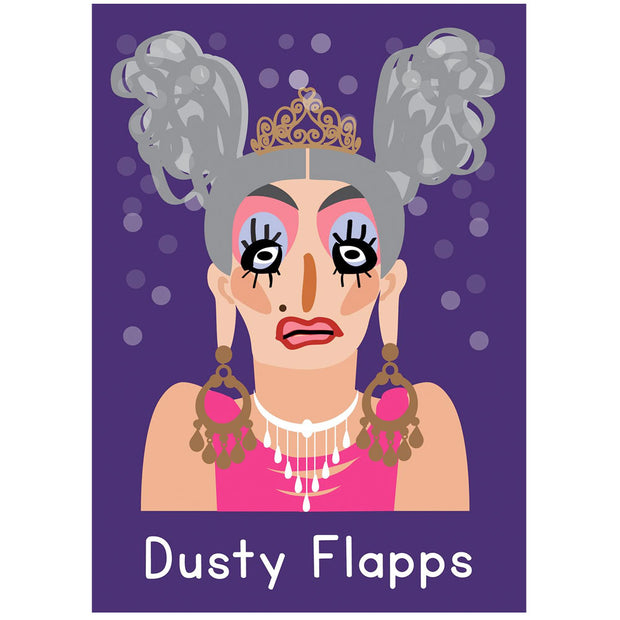 Life's A Drag - Dusty Flapps Greetings Card