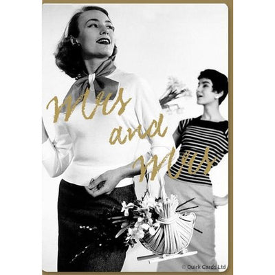 Mrs & Mrs - Gay Wedding Card