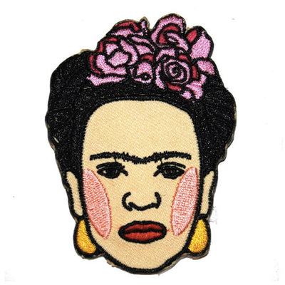 Frida Kahlo Embroidered Iron-On Patch