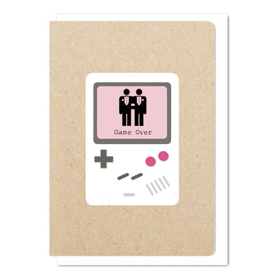 Game Over Mr & Mr - Gay Wedding Card