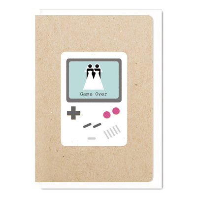 Game Over Mrs & Mrs - Lesbian Wedding Card