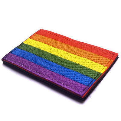 Gay Pride Rainbow Embroidered Velcro Patch