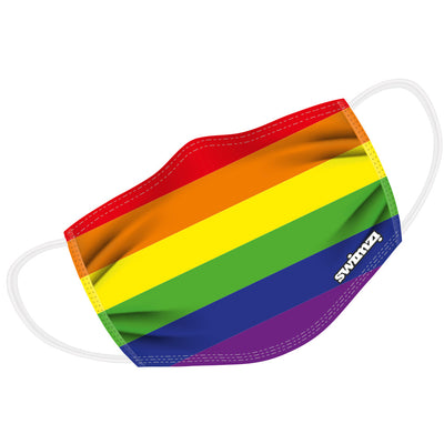 Gay Pride Rainbow Flag Twin Layer Face Mask