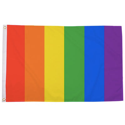 Gay Pride Rainbow Vertical Stripes Flag (5ft x 3ft Premium)