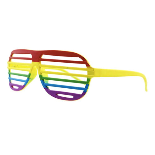 Gay Pride Rainbow Shutter Shade Glasses
