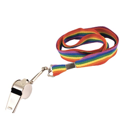 Gay Pride Rainbow Lanyard And Whistle