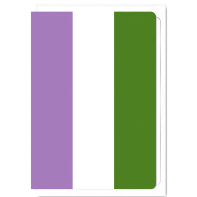 Genderqueer Pride Flag  - Greetings Card
