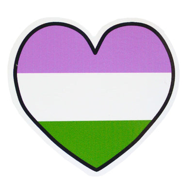 Genderqueer Heart Vinyl Sticker