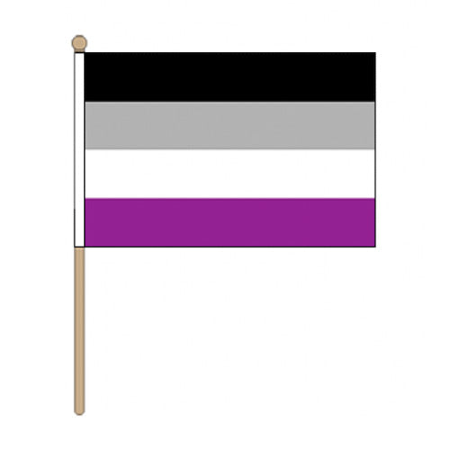 Asexual Pride Hand Held Flag (22.5cm x 15cm)