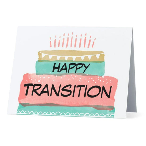 Flag Card Transgender Happy Transition Pride Flag - Greetings Card