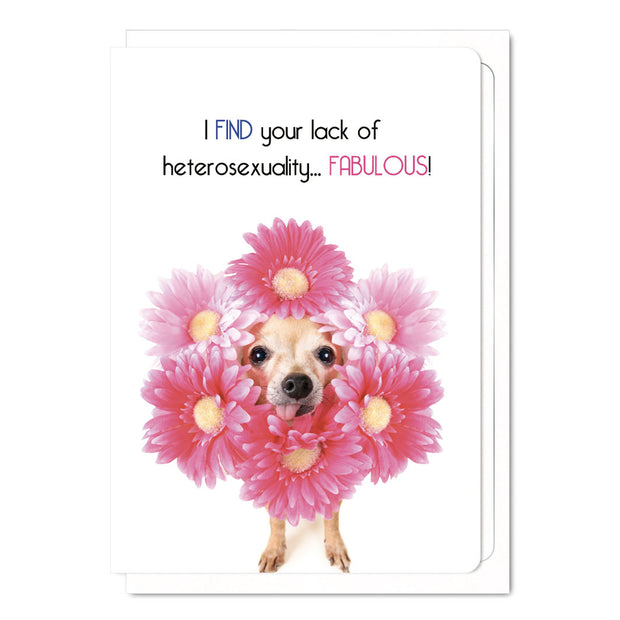 I Find Your Lack Of Hetrosexuality... Fabulous - Gay Greetings Card