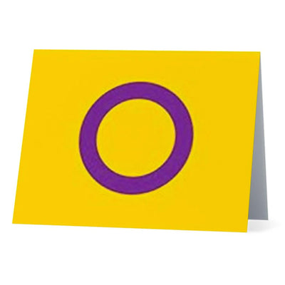 Flag Card Intersex Pride Flag - Greetings Card