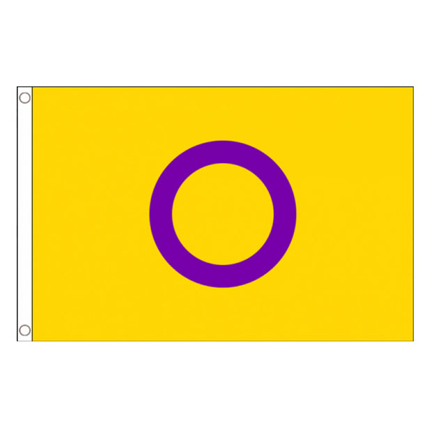 Intersex Pride Yellow/Purple Flag (5ft x 3ft Premium)