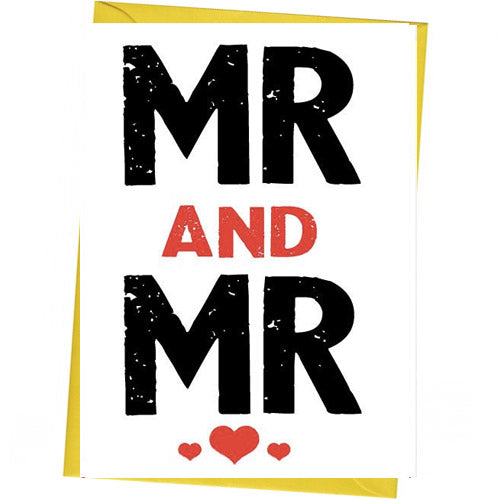 Mr And Mr - Gay Wedding Card