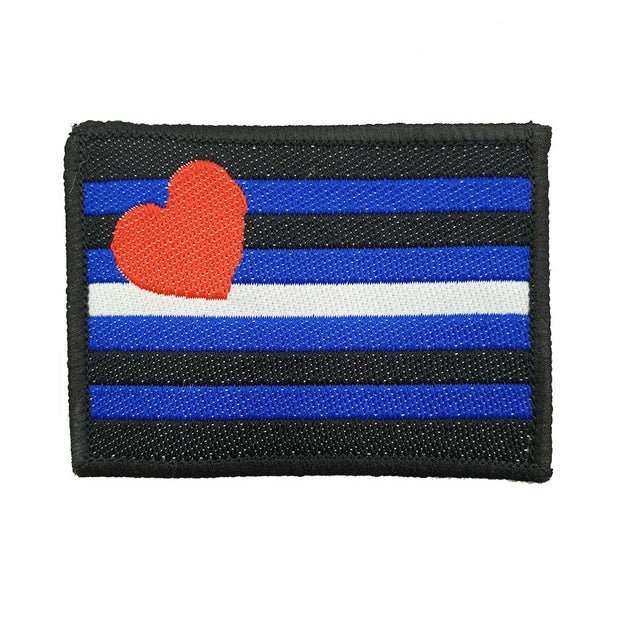 Leather Pride Flag Embroidered Iron-On Patch