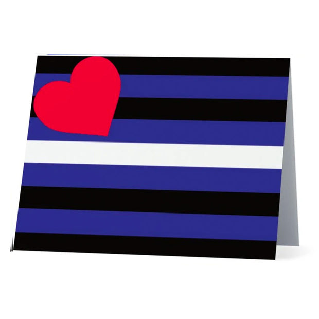 Flag Card Leather Pride Flag - Greetings Card