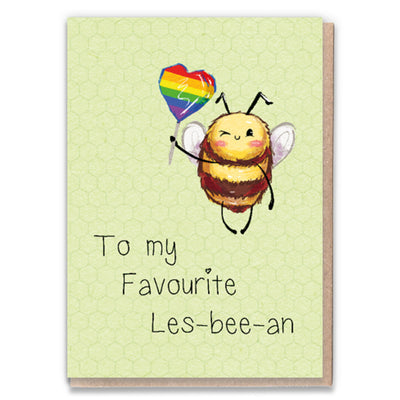 Les-Bee-an - Lesbian Greetings Card