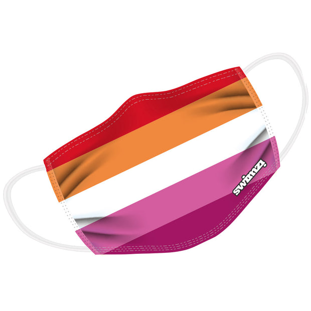 5 Colour Lesbian Flag (Orange/Pink) Twin Layer Face Mask