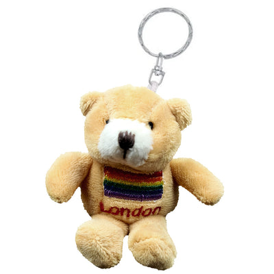 Teddy Bear Keyring - London Gay Pride Rainbow Flag
