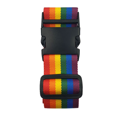 Gay Pride Rainbow Canvas Luggage Strap