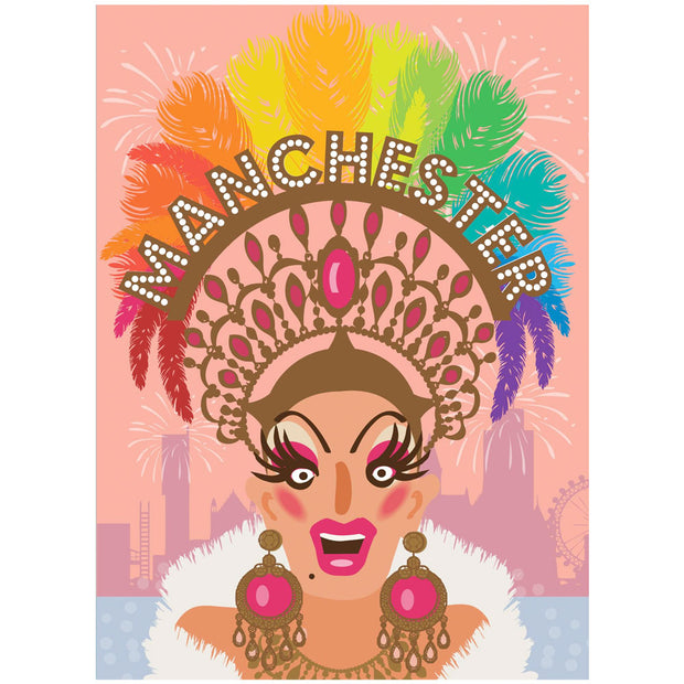 Life's A Drag - Manchester Tiara Greetings Card
