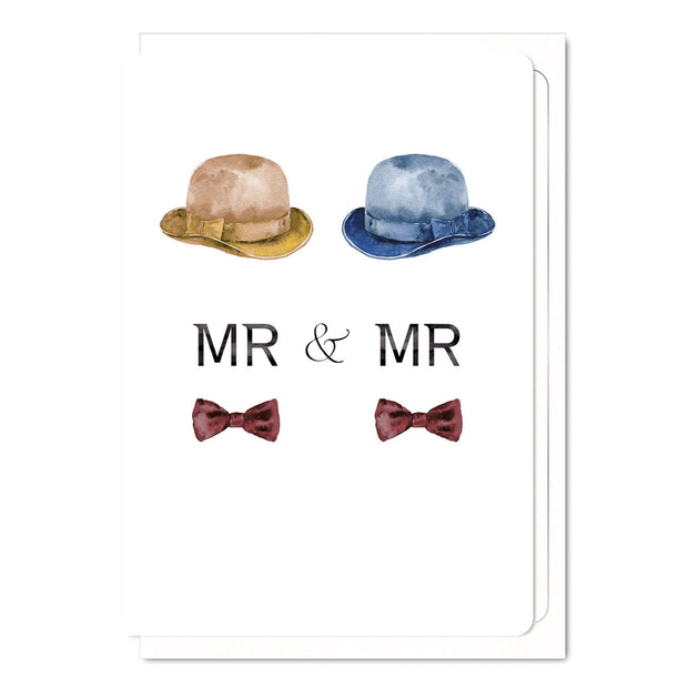 Mr & Mr Top Hats - Gay Wedding Card