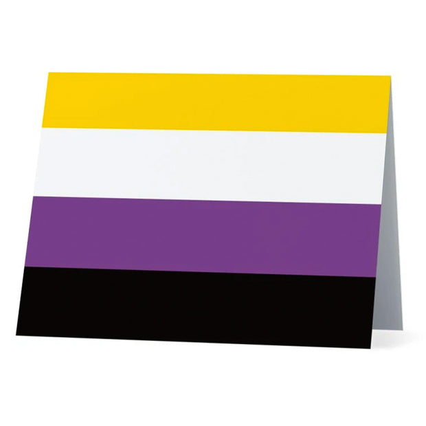 Flag Card Non Binary Pride Flag - Greetings Card