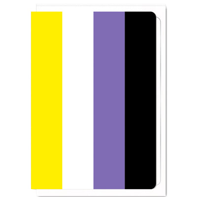 Non Binary Pride Flag  - Greetings Card