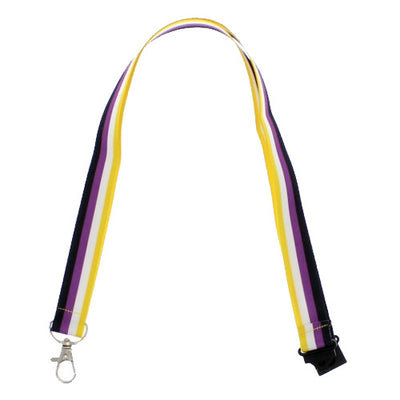 Non Binary Flag Lanyard