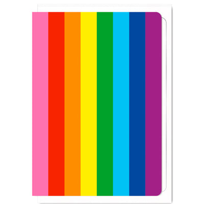 Gilbert Baker Rainbow Pride Flag - Greetings Card