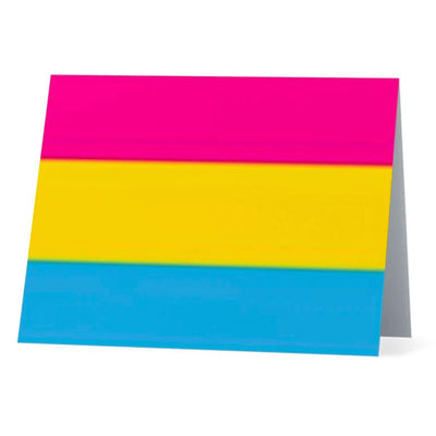 Flag Card Pansexual Pride Flag - Greetings Card