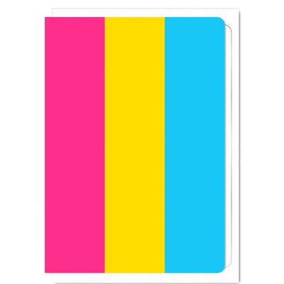 Pansexual Pride Flag  - Greetings Card