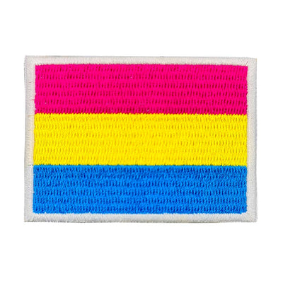 Pansexual Flag Rectangular Embroidered Iron-On Patch