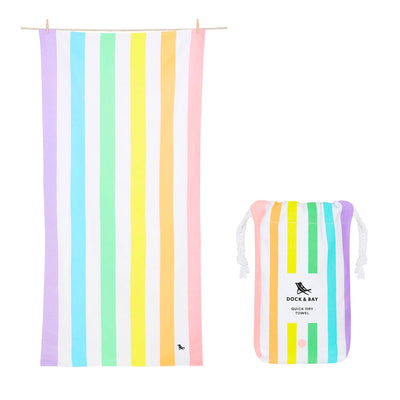 Gay Pride Pastel Rainbow Beach Towel Large